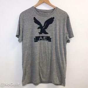 Grey American Eagle Logo T-shirt